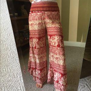 Pants - Red Elephant Boho Flowy Pants